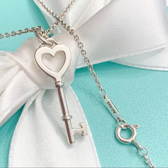 Tiffany Co Jewelry Tiffany Co Tiffany Keys Heart Key Pendant Chain Poshmark